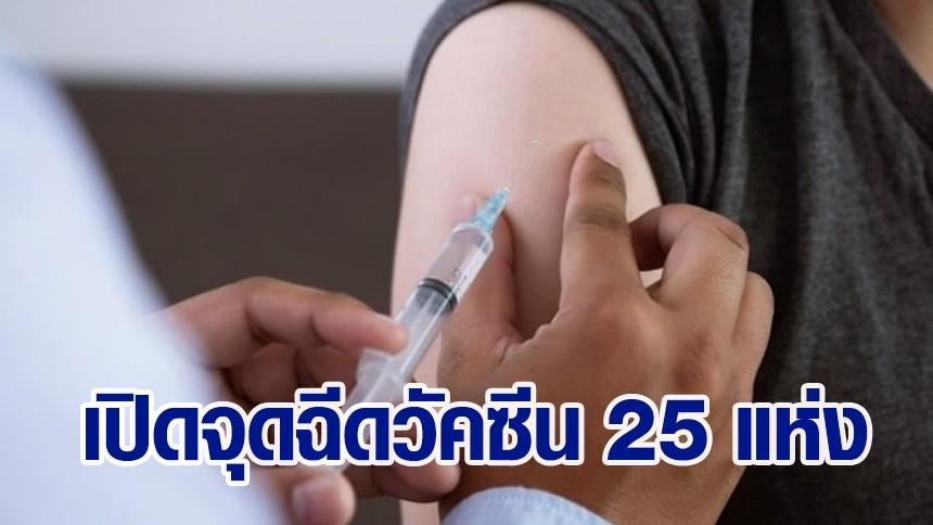 กลับมาแล้ว 'หอการค้าไทย' เปิดหน่วยฉีดวัคซีนนอกรพ. 25 แห่ง เริ่มฉีดให้ปชช. 7 ส.ค.นี้
