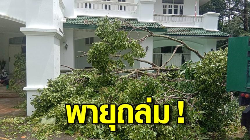 พายุถล่มกระบี่ ต้นตะเคียนทองล้มทับจวนผู้ว่าฯ ได้รับความเสียหาย