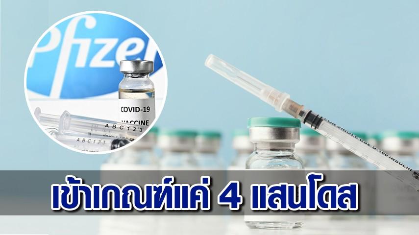 'ภาคีพยาบาล' โวย เข้าเกณฑ์ได้จัดสรร 'ไฟเซอร์' เพียง 4แสนโดส ตั้งข้อสังเกตบาง รพ. ได้ยอดรับวัคซีนอย่างน่าสงสัย
