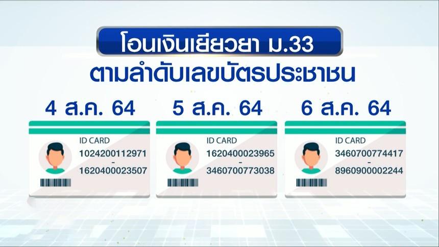 10 จังหวัดสีแดงเข้ม รับเงินเยียวยา ม.33 วันแรก ตามเลขบัตรประชาชน