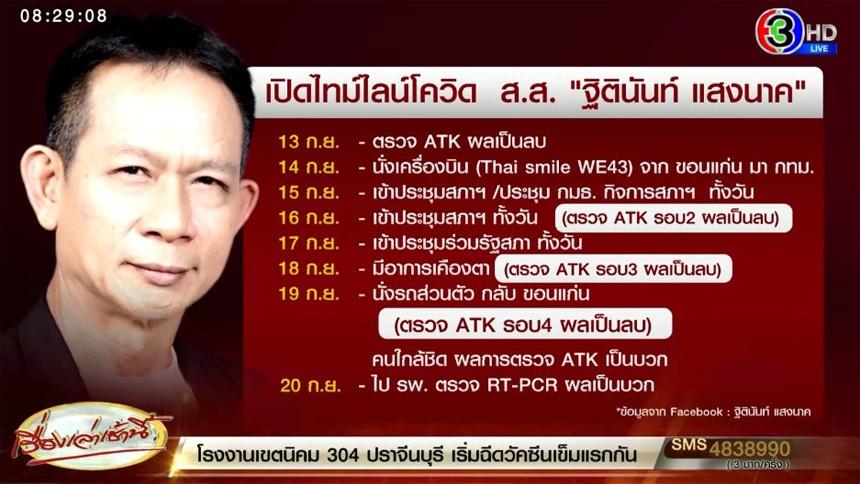ส.ส.ภูมิใจไทย แจ้งติดเชื้อโควิด เผยตรวจ ATK ก่อนหน้านี้ 4 รอบไม่พบเชื้อ