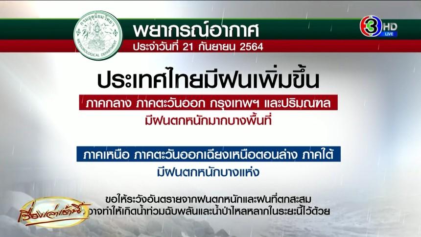 วันนี้ยังหนัก! อุตุฯเตือน ฝนถล่มทั่วไทย ตกหนักมากบางพื้นที่เจออ่วม 70-80%