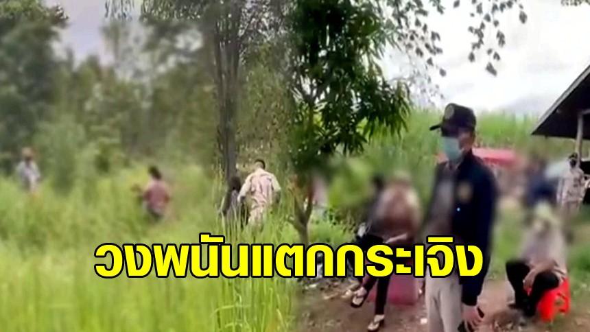 บุกรวบวงไฮโลโกสุมพิสัย นักเล่นวิ่งแตกตื่น หนีลงทุ่งและป่าอ้อย