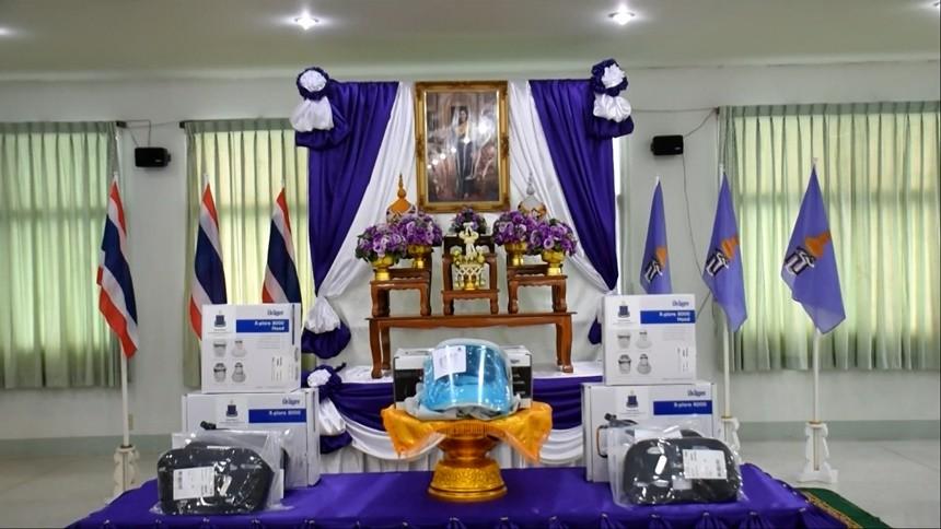 มูลนิธิชัยพัฒนา มอบอุปกรณ์การแพทย์พระราชทาน แก่โรงพยาบาล ในจ.สิงห์บุรี